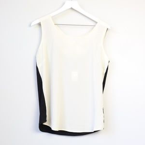 NEW Maurice's Ivory Sheer Cross Back Tank Top
